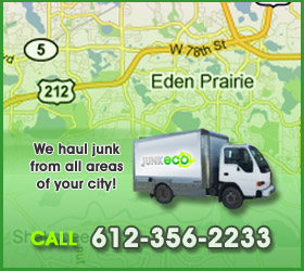 Junk Eco provides Eden Prairie junk removal, hauling, disposal, and recycling.