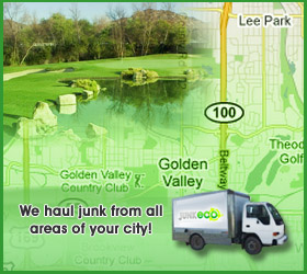 Junk Eco provides Golden Valley junk removal, hauling, disposal, and recycling.