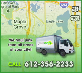 Junk Eco provides Maple Grove junk removal, hauling, disposal, and recycling.